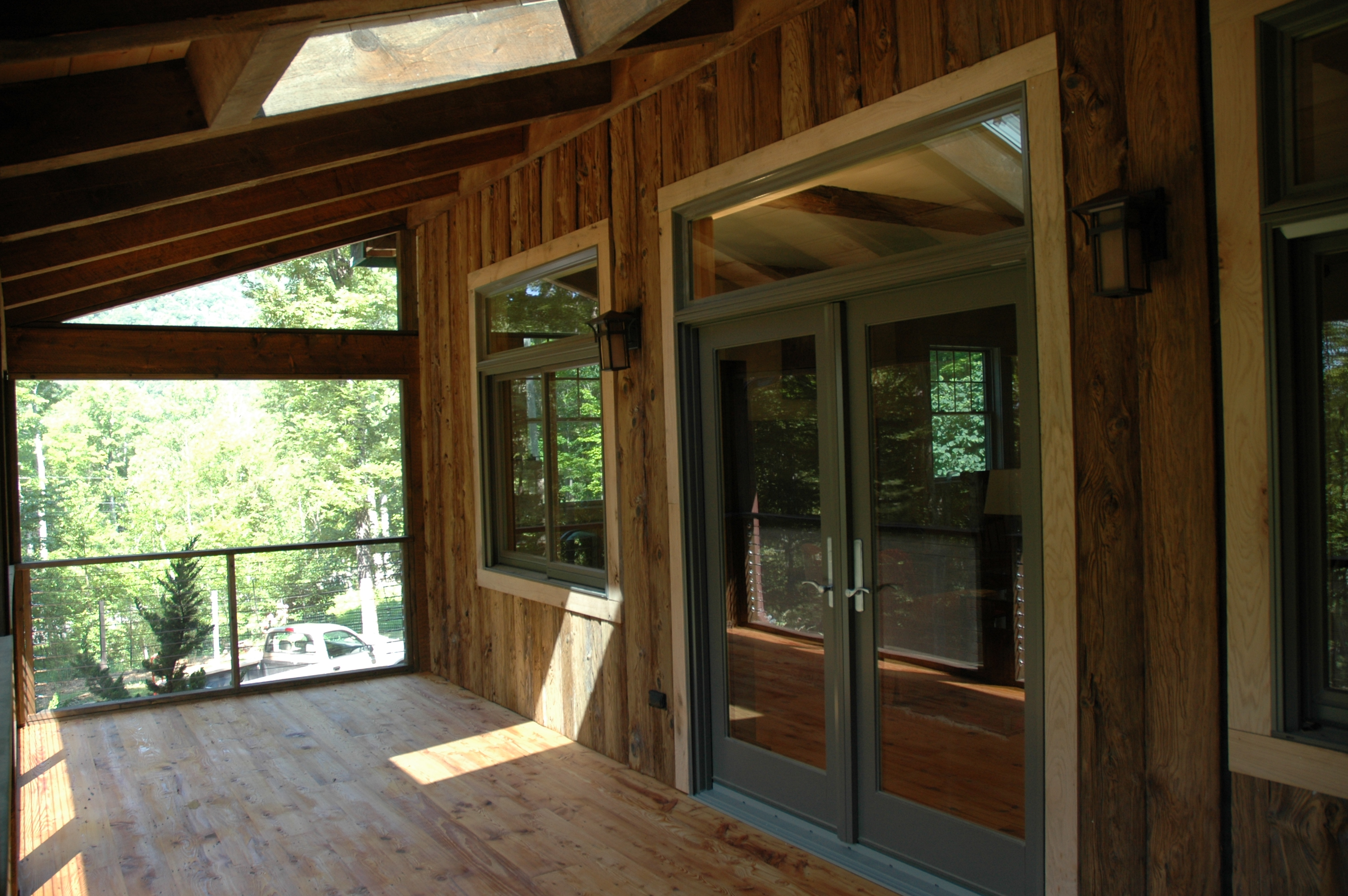 Woodstock mountain homes enclosed porches for Enclosed porches images