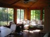 Enclosed porch dining